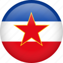 circle, country, flag, nation, national, world, yugoslavia icon