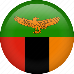 circle, country, flag, nation, national, zambia icon