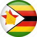 circle, country, flag, nation, national, zimbabwe icon