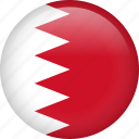 bahrain, circle, country, flag, nation, national icon