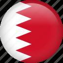 bahrain, circle, country, flag, national, nation