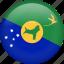 christmas island, country, flag, nation icon