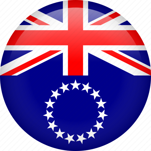 circle, cook islands, country, flag, nation, national icon