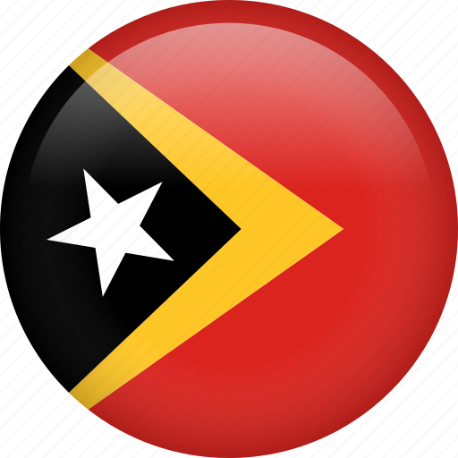 circle, country, flag, nation, national, timor-leste icon