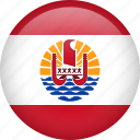 circla, country, flag, french polynesia icon