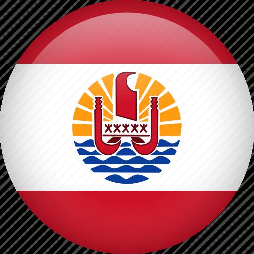 circla, country, flag, french polynesia icon