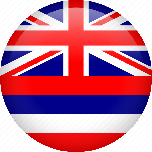 circle, country, flag, hawaii, nation icon