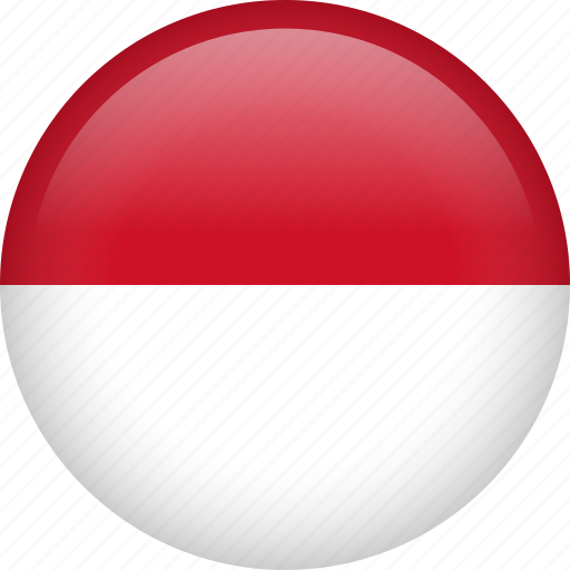 circle, country, flag, indonesia, nation, national icon
