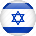 circle, country, flag, israel, national icon