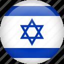 israel, circle, country, flag, national