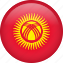 kyrgyzstan, circle, country, flag, national icon