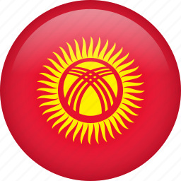 circle, country, flag, kyrgyzstan, national icon