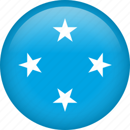 circle, country, flag, micronesia, national icon