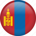 mongolia, circle, country, flag, national