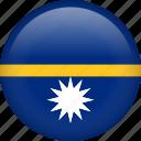 nauru, circle, country, flag, national