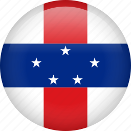 circle, country, flag, nation, national, netherlands antilles icon