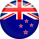 circle, country, flag, nation, national, new zealand icon