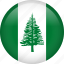 circle, country, flag, nation, national, norfolk island icon