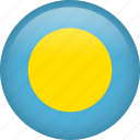 circle, country, flag, nation, national, palau icon
