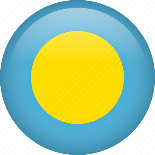 circle, country, flag, nation, national, palau icon
