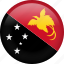 circle, country, flag, nation, national, papua new guinea icon