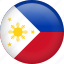 circle, country, flag, nation, national, philippines icon