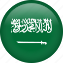 circle, country, flag, nation, national, saudi arabia icon