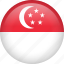 circle, country, flag, nation, national, singapore icon