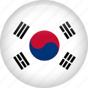 circle, country, flag, nation, national, south korea icon
