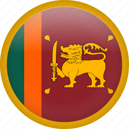 circle, country, flag, nation, national, srilanka icon