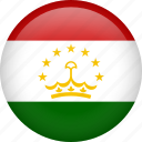 circle, country, flag, nation, national, tajikistan icon