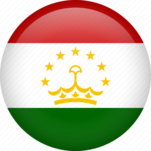 circle, country, flag, nation, national, tajikistan icon