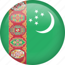 circle, country, flag, nation, national, turkmenistan icon