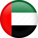 circle, country, flag, uae, united arab emirates icon