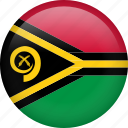 circle, country, flag, nation, national, vanuatu icon