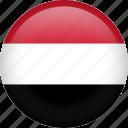 flag, yemen, circle, country, nation icon