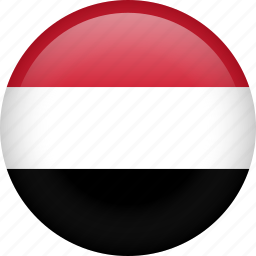 circle, country, flag, nation, yemen icon