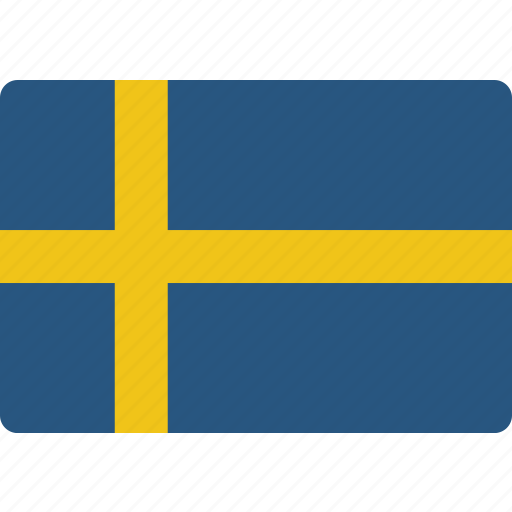 country, flag, international, sweden icon