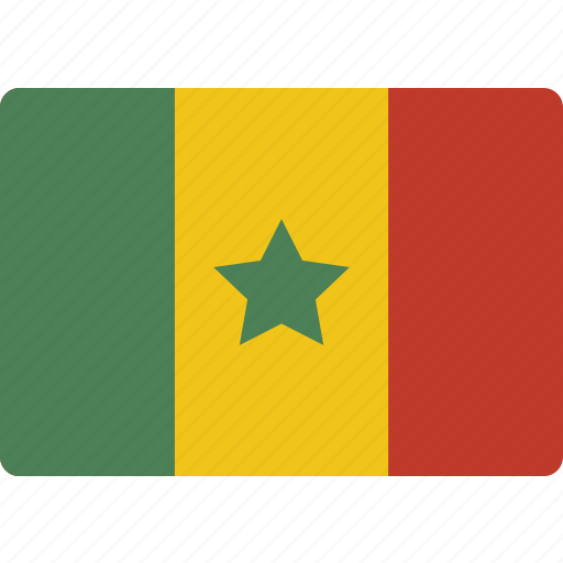country, flag, international, senegal icon