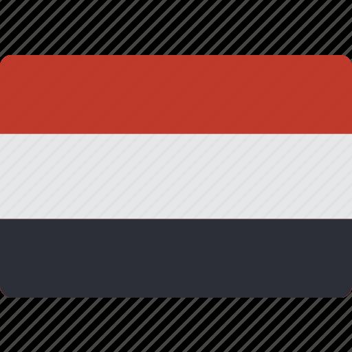 country, flag, international, yemen icon