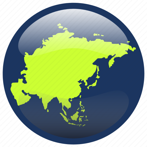 The Continent Of Asia Map.Asia Continent Map Icon