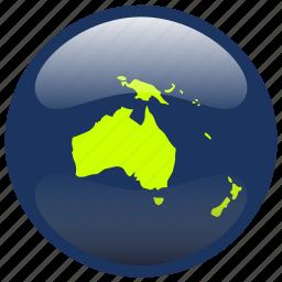 australia, continent, map icon