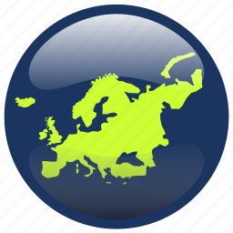 continent, europe, globe, map, world icon