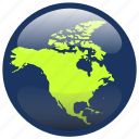 continent, map, north america, northamerica, world icon