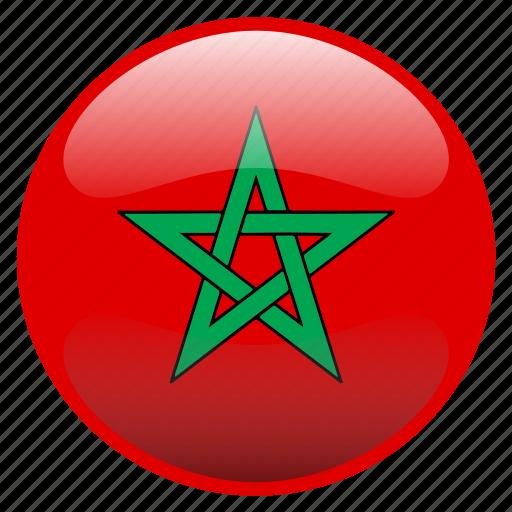 flag, morocco, المغرب icon