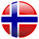 flag, norge, norway icon