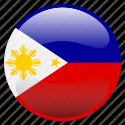 flag, philippines, pilipinas icon