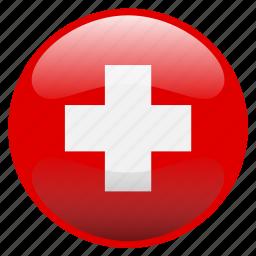 flag, swiss, switzerland icon