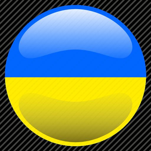 flag, ukrain icon