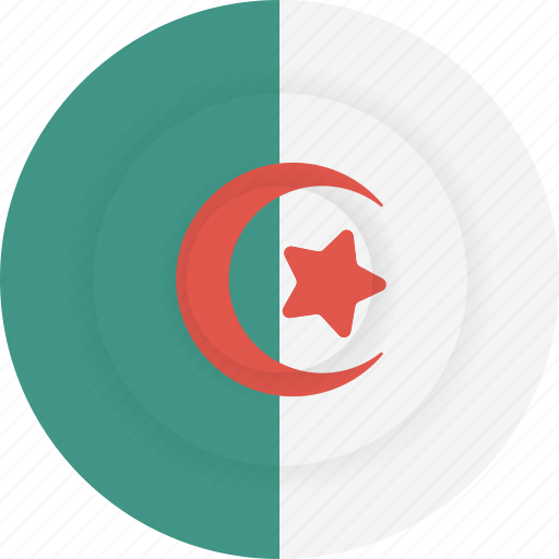 algeria, country, flag, geography, national, nationality icon